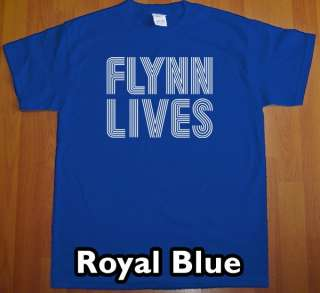 FLYNN LIVES tron T Shirt new movie arcade comic con tee