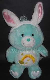 CARE BEARS Plush Green WISH BEAR Stuffed Animal Toy Bunny Rabbit Ears