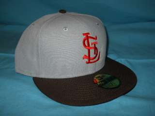 ST. LOUIS BROWNS ORIOLES GREY NEW ERA FITTED HAT 7 1/2