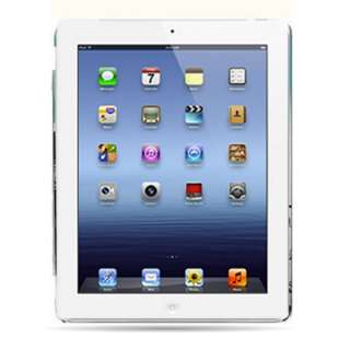 For Apple iPad 2 New Pearl White Rubber Hard Cover Case