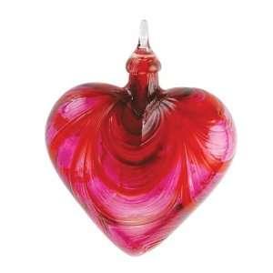 Glass Eye Studio Hand Blown Valentine Glass Heart Ornament
