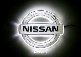 NISSAN LED LIGHT UP BADGE DECAL LOGO TRUNK EMBLEM STICKER LAMP WHITE