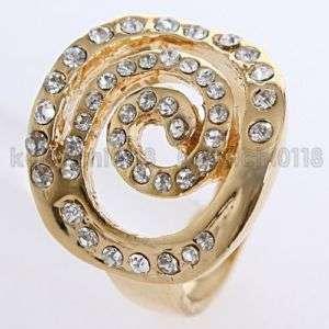 18K GP Clear Crystal Fashion Ring 11972