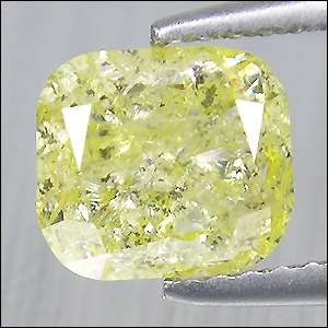 Cts Untreated Luster Fancy Canary Yellow Natural Loose Diamond Radiant