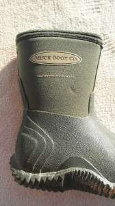 MUCK BOOT CO WATERPROOF INSULATED RAIN BOOTS KIDS SIZE 10; GREAT COND