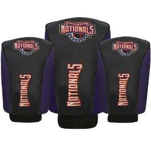 Washington Nationals Black Three Pack Golf Club Headcovers