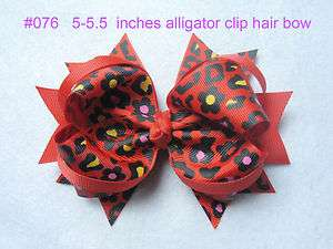 multicoloured boutique hair bows for crochet headbands 5 5.5 inches
