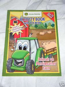 Deere Activity Book Stickers Poster Growth Chart 9781593940102