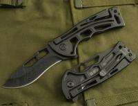 SR Black Stainless Steel link lock Folding Knife K79