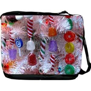 Rikki KnightTM Christmas Tree White Design Messenger Bag   Book