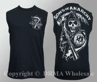 SONS OF ANARCHY Samcro Shield Muscle Tank Top Shirt M L XL 2XL 3XL NEW