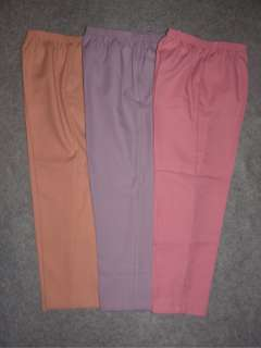 NWT ALFRED DUNNER Womens Elastic Waist Pants Pink Peach Purple Size 8