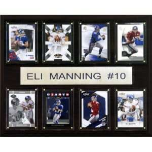 NFL Eli Manning New York Giants 8 Card Plaque Sports