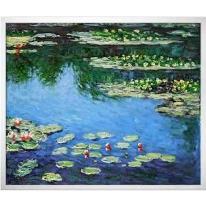 Art Monet Water Lilies Painting with Studio White