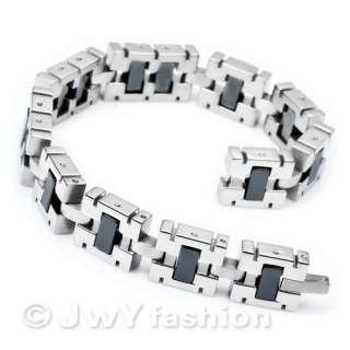 MENS Silver Stainless Steel Healing Magnetic Hematite Bracelet Bangle