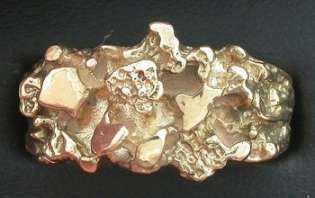 14Kt Solid Heavyweight Nugget Ring Mens Gold Ring Size 8.5