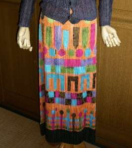 ELEGANT&CUTE ISSEY MIYAKE PLEATS PLEASE LONG MAXI SKIRT DRESS 4/L NEW