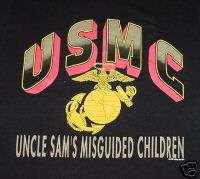 New Black USMC Uncle Sams Marine Corps T Shirt, size 2X