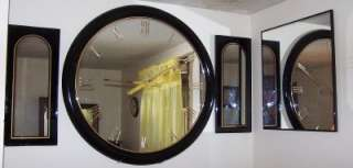 42 Large Round Hanging Wall Mirror w/Matching Mirrors