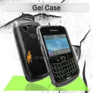 Black TPU Soft Gel Skin Case Cover Blackberry Bold 9780