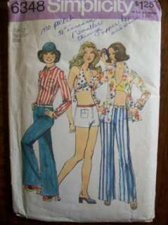 VTG 1970s HIP HUGGERS & HALTER TOP Sewing Pattern SZ 12