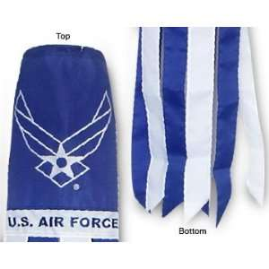 Air Force Wings Logo 40 in. Windsock Polyester Patio