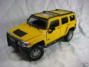 Hummer H3 yellow Cararama Diecast Car Model 1/24 124