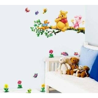 Winnie the Pooh Stick Wall Art Sticker Decal 2PGS (Sitting Branch)