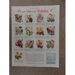 Can Manufacturers, Vintage 40s full page print ad. (do you belive in