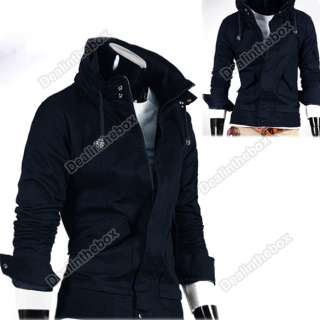 New Fashion Korea Mens Slim Hooded Style Long Trench Coat 4 Color 4