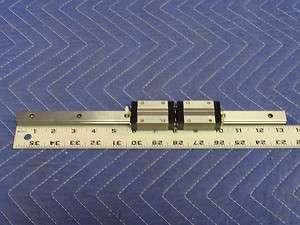One 13 3/8 IKO LWE15SL Rail and Two IKO LWES15SL Bearings F73