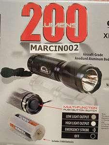 200 TechLite Lumen Master 200 Lumens Tactical High Intensity CREE LED