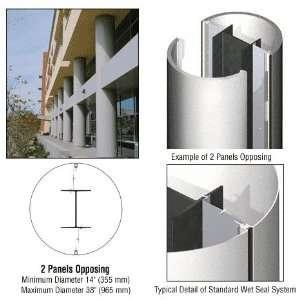 CRL Silver Metallic 2 x 10 Standard Series Round Column