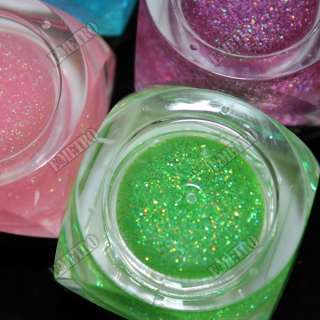 12 Colors UV Gels Glitter Shimmer Nail Art Manicure 5ml