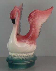 California Pottery Flamingo Statue Maddux Planter