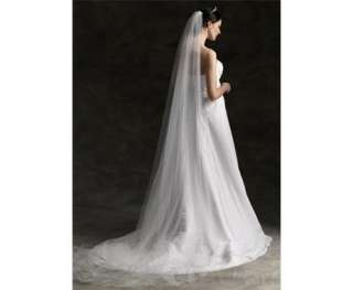 1T Layer 300cm Cathedral In White Ivory Wedding Bridal Veil BV07