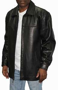 Mens Genuine James Dean Leather Jacket Black