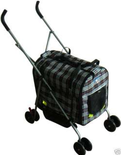 Plaid Pet Dog Stroller/Carrier/House/CarSeat 7RP 814836014618