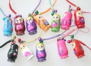 Beautiful 12 pcs Japanese Oriental Kokeshi Doll Handbag Charm