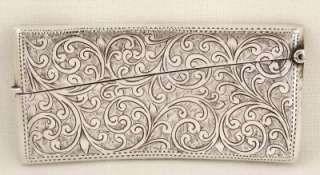 HALLMARKED STERLING SILVER CALLING CARD CASE   1913   GEORGE LOVERIDGE