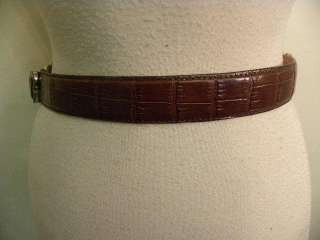 BRIGHTON DISNEY MICKEY MOUSE BROWN LEATHER BELT M