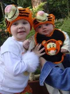 Custom Boutique Crochet Poohs Friend TIGGER Beanie Hat
