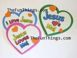 LOVE JESUS & JESUS LOVES ME KIDS FOAM CRAFT MAGNETS |