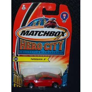 2003 Matchbox Hero City Nissan Z Red 2003 62 Toys & Games