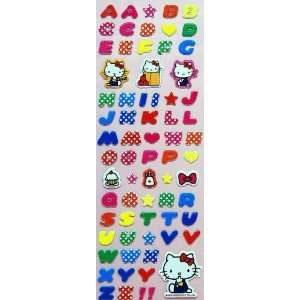 Cute Japanese Hello Kitty Initial   Red Stickers (PVC) Toys & Games