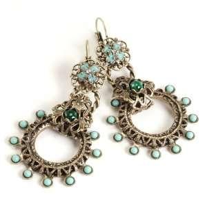 Southwest Retro Turquoise Earrings by Sweet Romance