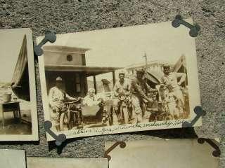 GROUP (13) VINTAGE HARLEY DAVIDSON MOTORCYCLE PHOTOS