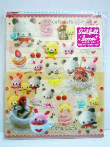 Kamio Japan Kawaii Smiley Face Cafe Letter Set Stickers