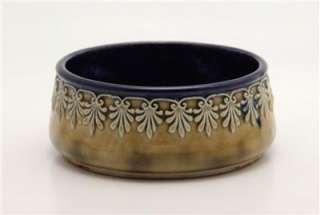 Art Nouveau Doulton Lambeth England Vintage Stoneware Bowl Arts