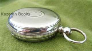 Antique Solid Silver Kendal & Dent Buren Fob Pocket Watch